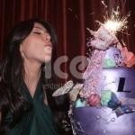 Ice Sparklers Celebrities Kim Kardashians Birthday Cake Sparklers